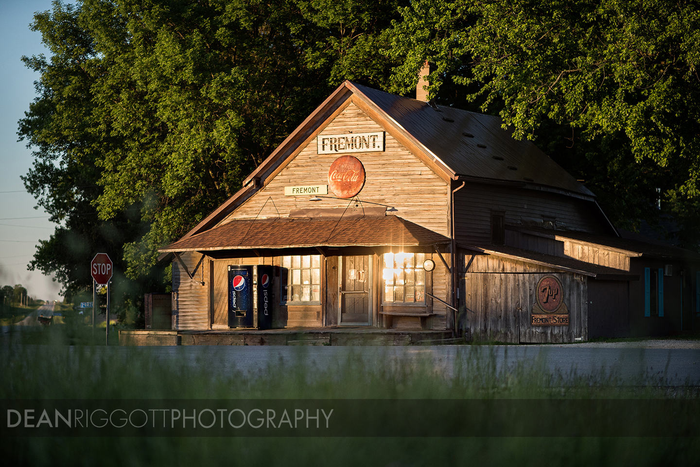 As an agricultural photographer in the midwest I am constantly out driving the backroads heading somewhere. A few weeks ago I was all over southern Minnesota photographing farmers with their vintage tractors for a project SEMA Equipment is working on. When passing through Fremont, Minnesota, I came upon this very old country store, which I had actually stopped to photograph in the past. But this time the lighting was absolutely beautiful as the sun was about to set, so I just had to stop. The Fremont Store, located just south of Lewiston, Minnesota, was built in 1856 and still functions as a store today. It is currently owned and operated by 101-year-old, Martha Johnson, who lives right next door.