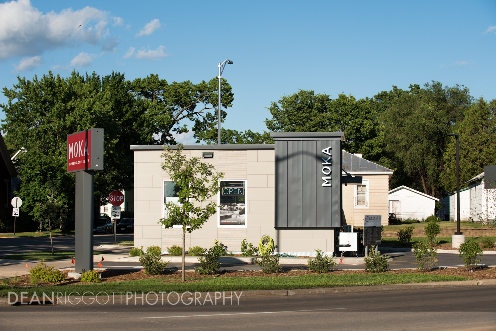 Architectural photography of Moka Java in LaCrosse, Wisconsin.