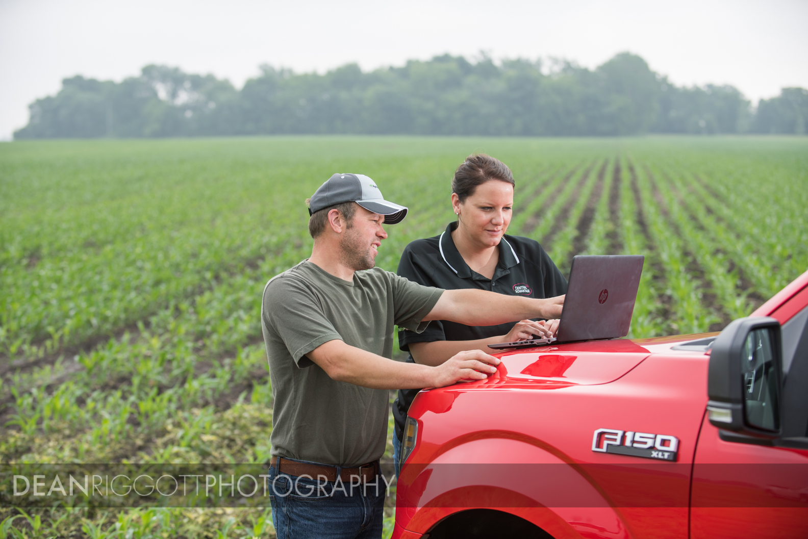Talking in the field with Ashley Green, an AgriEdge specialist with Syngenta.